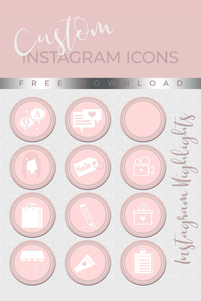 Instagram Highlight Covers Prettywebz Media Business Templates Graphics