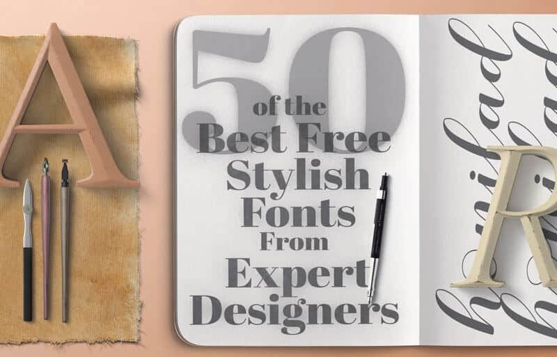 Stylish Fonts: A Collection of 50 Stunning Free Fonts - PrettyWebz