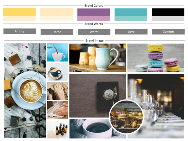 mood board template  effective communication  no words