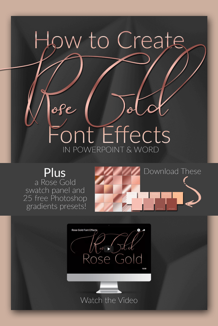 how to make rose gold font effects super easy prettywebz