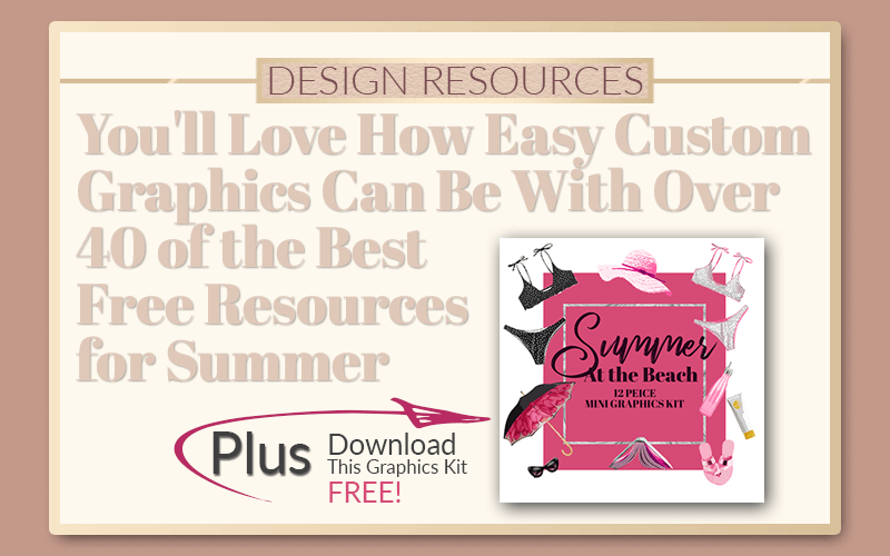 Custom Graphics Summer Themes - PrettyWebz Media Business