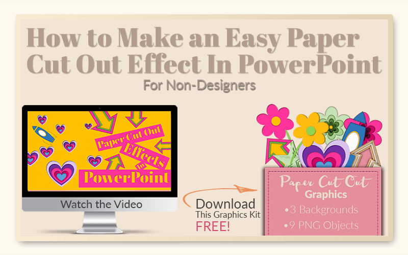 How to Make an Easy Paper Cut Out Effect In PowerPoint - PrettyWebz