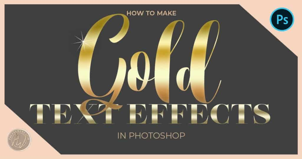 How to Make Rose Gold Font Effects Super Easy - PrettyWebz Media