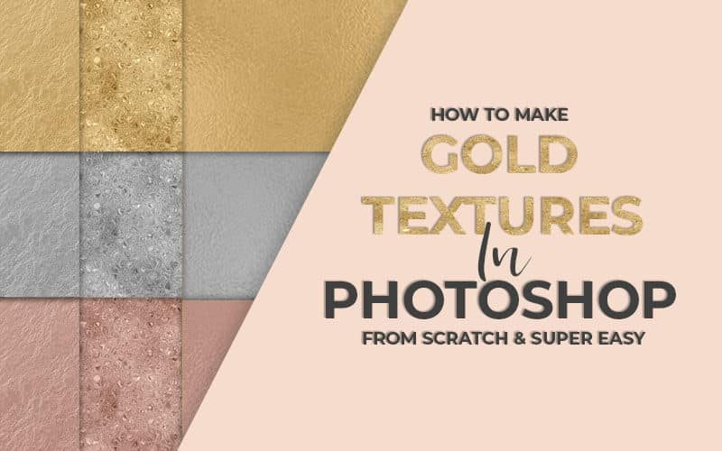 How to Make Easy Silver, Gold & Rose Gold Foil Textures