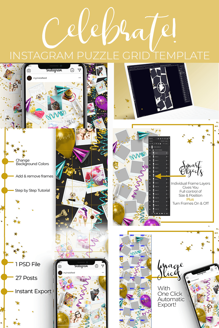 Celebrate! Instagram Puzzle Grid Template