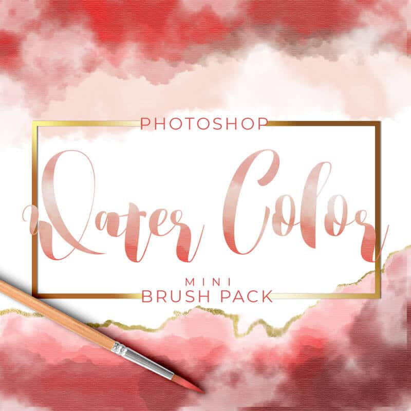 Water Color Photoshop Brushes - Mini Set - PrettyWebz Media