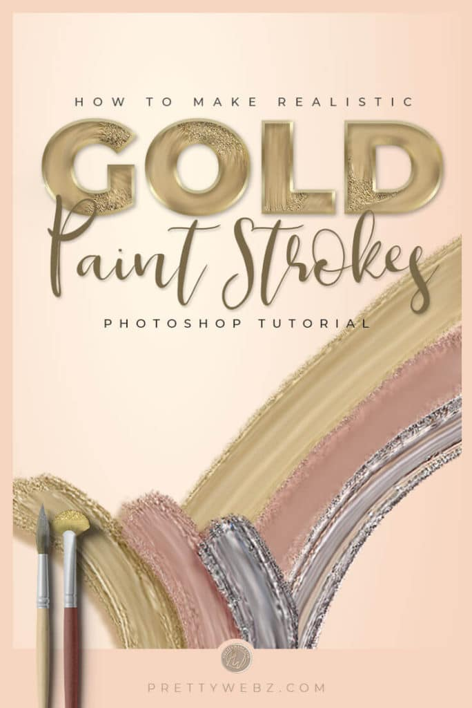Gold Color Paint in Photoshop - PrettyWebz Media Business Templates